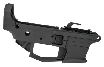Angstadt Arms Aa0940lrba 0940 Lower Receiver Ar15 Platform 9mm Luger 7075 T6 Aluminum Black Hardcoat Anodized Accepts Glock Magazines