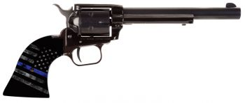 Heritage Mfg Rr22b6tbl Rough Rider Small Bore 22 Lr 6 Round 6.50 Black Cocobolo American Flag With Thin Blue Line Grip