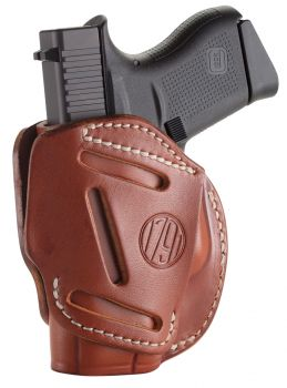 1791 Gunleather 3wh2cbra 3 Way Brown Leather Owb Fits Glock 42/ruger Lcp/sw Bodyguard Ambidextrous Hand