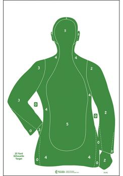 Action Target Inc B21egreen100 B21e Qualification Target Paper 23 X 35 Silhouette Green 100