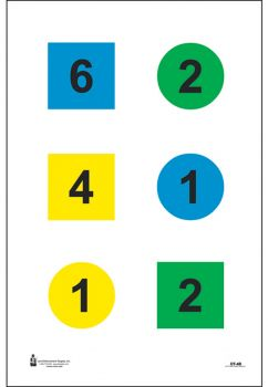 Action Target Inc Dt4b100 Discretionary Command Training  Paper 23 X 35 Circle/square Black/blue/green/yellow 100