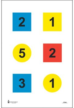 Action Target Inc Dt4c100 Discretionary Command Training Paper 23 X 35 Circle/square Black/blue/red/yellow 100