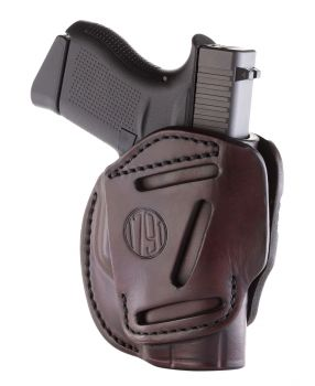 1791 Gunleather 3wh2sbra 3 Way Signature Brown Leather Owb Glock 42 Ambidextrous Hand
