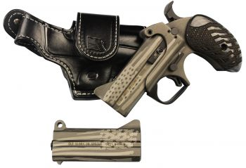 Bond Arms Baogp2 Old Glory Package 2 38 Special/357 Mag 410/45 Colt Lc Derringer American Flag Stainless Steel Cerakote Bond Arms Black Leather Driving Holster
